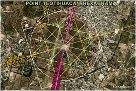 Teotihuacan Map Teotihuacan Hexagram U003c Azimuths Historical Objects