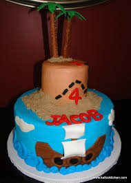 kalico kitchen birthday cakes boy two tier pirate and treasure