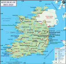 Puerto Rico On A Map by Map Of Ireland Ireland Map