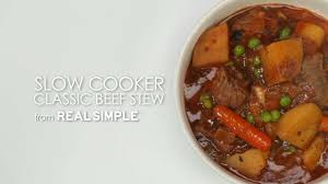 slow cooker recipe classic beef stew recipe myrecipes