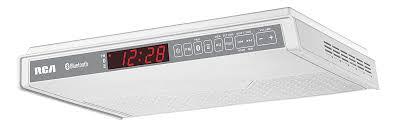 under cabinet bluetooth speaker rca sps3688b under cabinet wireless speaker with fm radio white