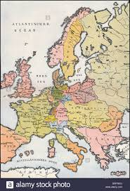 Historical Maps Of Europe by Map Of Europe 1809 Historical Illustration 19th Century Stock