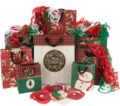 hallmark 27pc gift wrap set with bags tags tissue paper