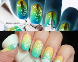 halloween monster nails nail art halloween in inverted colours challenge polished