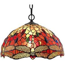 stained glass ceiling light fixtures amora lighting am1034hl14 tiffany style stained glass hanging l
