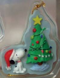 peanuts snoopy brown mini hallmark ornament set