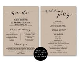 in memory of wedding program ceremony programs wedding programs printable ceremony