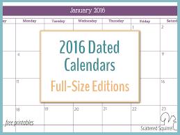 free printable planner calendar 2016 2016 monthly calendar printables full size edition year planner