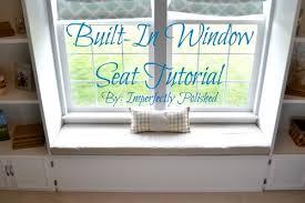 built in window seat built in window seat tutorial