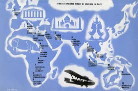 how long does it take for mail to travel images Fascinating route maps posters from the early days of air travel jpg