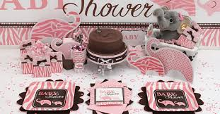 pink and brown baby shower and brown baby shower ideas