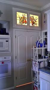 french country flowers stained glass pantry windows