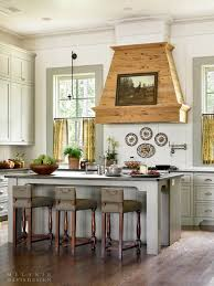 home interior design u2014 country kitchen with shiplap walls and a