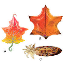 1pcs lot anagram fall maple leaf harvest corn foil balloons