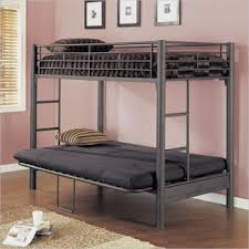 matte black textured twin over futon metal bunk bed