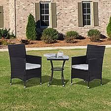 Rattan Patio Table And Chairs Garden Furniture Rattan Wooden U0026 Metal Tesco
