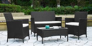Woven Patio Chair Rattan Outdoor Furniture Sets Patio Furniture Conversation