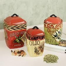 tuscan kitchen canister sets olio olives kitchen canister set