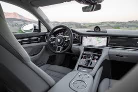 porsche panamera turbo 2017 interior 2018 porsche panamera turbo s e hybrid sport turismo first drive