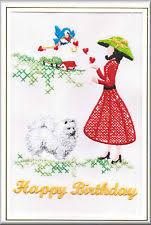japanese spitz birthday card embroidered by dogmania ebay