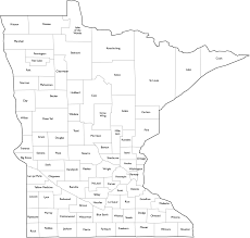 Blank Map Of The Us States by Minnesota County Map With Names