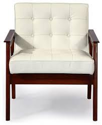 Mid Century Modern Armchairs Mies Midcentury Modern Plank Arm Chair Italian Leather
