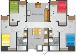 floor plans of the enclave at 8700 in college park md