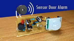 how to make easy automatic door alarm circuit with pir sensor