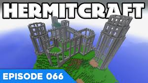 hermitcraft v 066 giant castle plans a minecraft let u0027s play