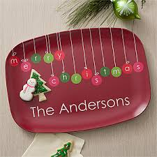 personalized christmas platter personalized christmas platter christmas ornaments melamine dish