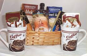 gift mugs with candy coffee chocolate gift basket cappuccino mocha 2 mugs syrup