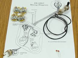 new es 335 pots switch u0026 wiring kit for gibson guitar complete