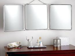 tri fold bathroom vanity mirrors cabinets tall mirror pivot full