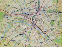 Paris Subway Metro Rer Map Paris France