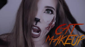 cat makeup for halloween with cc engsub youtube