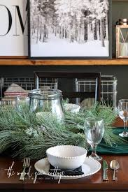 dining room table settings christmas table setting in the dining room the wood grain cottage