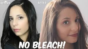 how to lighten dark brown hair to light brown diy lighten dark hair without added bleach at home youtube