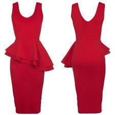 peplum dress peplum dress ebay