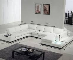 Leather Modern Sectional Sofa Modern White Bonded Leather Sectional Sofa Tos Lf 2029 Bn