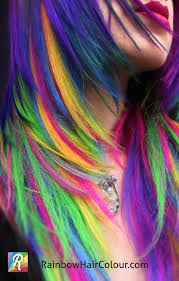 Make Clip In Hair Extensions by Unicorn U0027s Mane Hand Dyed Rainbow Hair Extensions Rainbow Hair