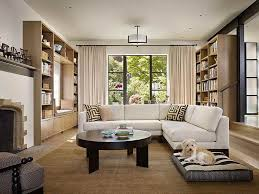 Wooden Floor And White Wall Living Room L Shaped House White L Room L