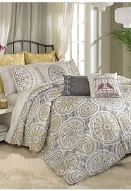 Grey And Yellow Comforters Yellow White Grey And Black Bedding I Love This Color Scheme