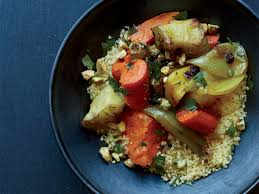 roasted winter vegetables with saffron couscous recipe neilly