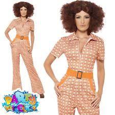 70s jumpsuit womens authentic 70s chic fancy dress costume 70 s 1970s by