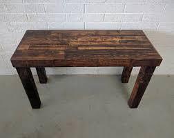 Work Table Desk Rustic Desk Etsy