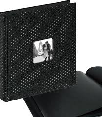 Photo Album With Black Pages Black Glamour Satin And Silver Photo Albums The Photo Album Shop