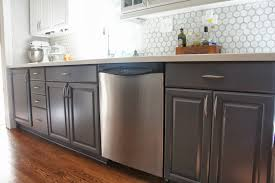 Kitchen With Only Lower Cabinets Grey Kitchen Cabinet Paint Kitchen Decoration