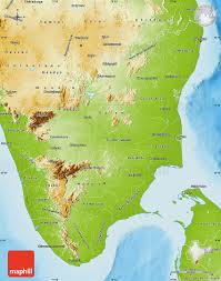 Physical Maps Physical Map Of Tamil Nadu