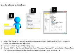 business organizational chart template 3d man and yellow folder