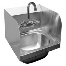wall mount stainless steel sink ace stainless steel wall mount hand sinks w splash guards jks
